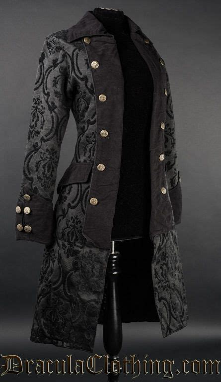 black pirate princess coat clothes steampunk clothing