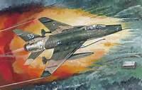 Wallpaper Vietnam War Aviation Painting F 100 Super Sabre American