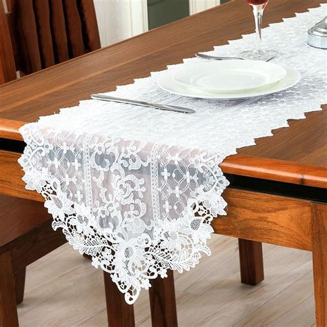 dining room table runners lace table runner embroidery cloth wedding