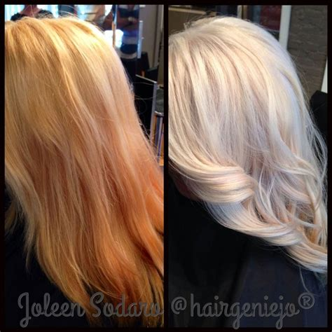 olaplex on pinterest color correction platinum blonde and fuller h image of color correction brassy mess to level 10