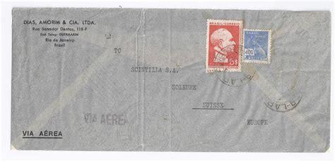 Brief Schweiz Luftpost Brasilien Schweiz 1940 5 Blockmarke Zus M 400 R Auf Luftpost Brief 1193 183 Heiner Zinoni
