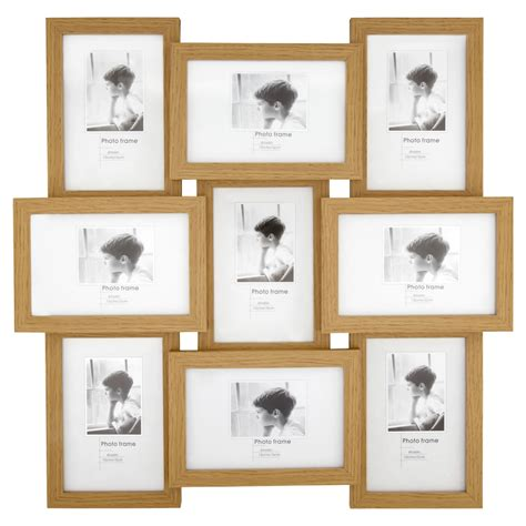 light wood effect multi aperture photo frame9 x 6 x 4in woods living rooms and room decor