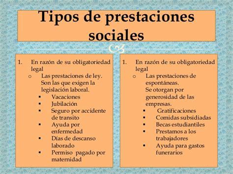 prestaciones sociales para empleadas de servicio en plan de prestacion de servicios sociales 2