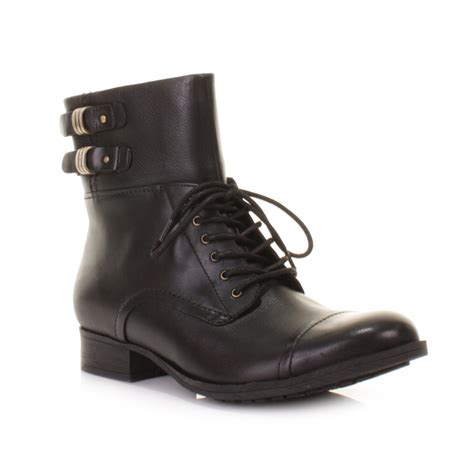 womens clarks mimic play leather lace up ankle