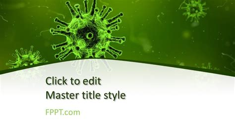 virus powerpoint template  powerpoint templates