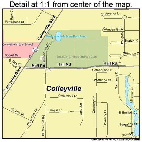 where is colleyville texas on texas map colleyville texas map 4815988