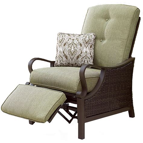 hanover ventura luxury recliner chair outdoor wicker patio