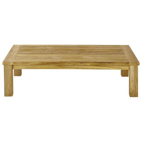 teak garden coffee table w 130cm ile maisons du monde