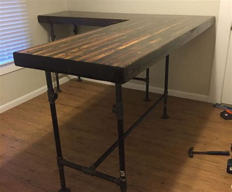 how to build an l shaped desk 1000 ideas about diy iron pipe on pipe