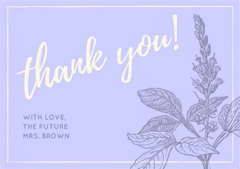 Bridal Shower Thank You Card Template by Thank You Card Templates Free Sle Exle Format