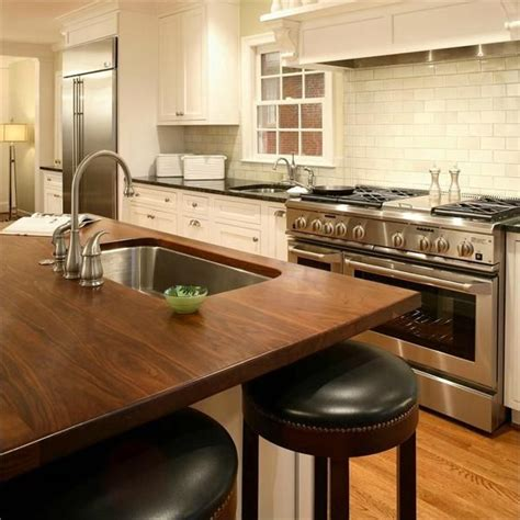 Kitchen Island Wood Countertop by 58 Cozy Wooden Kitchen Countertop Designs Digsdigs