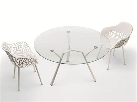 Supérieur Table De Jardin Alu #3: Table-jardin-ronde-alu-blanc-plateau-verre-Radice-Quadra-Fast.jpg