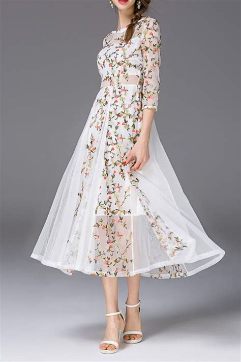 Flowers Embroidery Dress 25 best ideas about embroidered dresses on