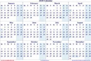 Calendar 2018 Yearly Yearly Calendar 2018 Free Premium Templates