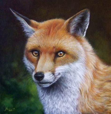 fox acrylic  canvas panel video tutorial step