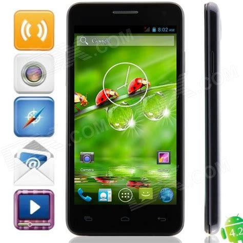 Android China Ram 1gb w450 android 4 2 2 mtk6582 wcdma bar phone w 4 5 quot 1gb ram 4gb rom gps black