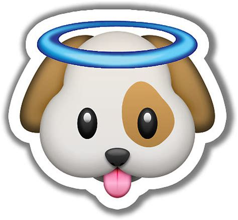 Removable Christmas Wall Stickers quot angel puppy emoji quot stickers by kate d redbubble