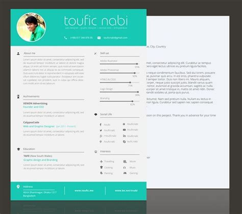 Free Graphic Resume Templates by 130 New Fashion Resume Cv Templates For Free