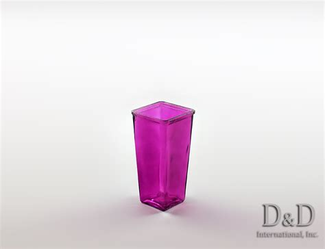 Block Vases by Block Tapered Colored Glass Vases