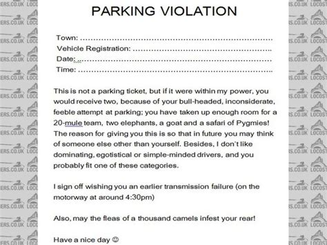 Best Photos Of Unauthorized Parking Warning Letter Sles Parking Violation Notice Template Parking Warning Notice Template
