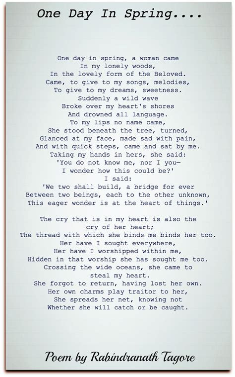 rabindranath tagore poems classic famous poetry