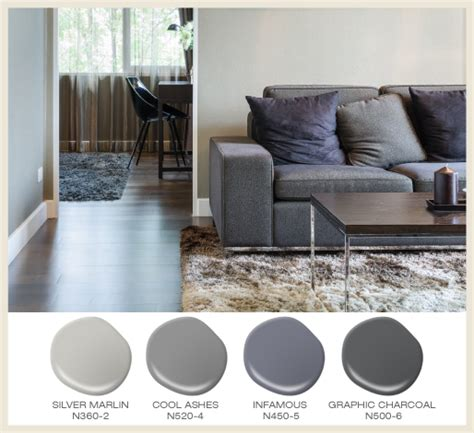 mix and match textures when using tone on tone greys in a room featured behr paint colors