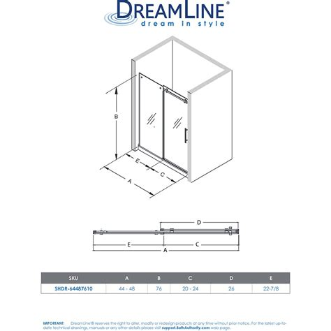 bath authority dreamline enigma air    frameless