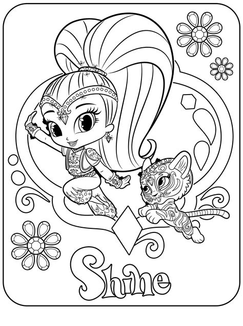nick jr coloring pages spring shine e nahal coloring page to print top 14 shimmer and