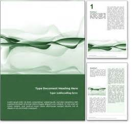 word page design templates royalty free abstract microsoft word template in green