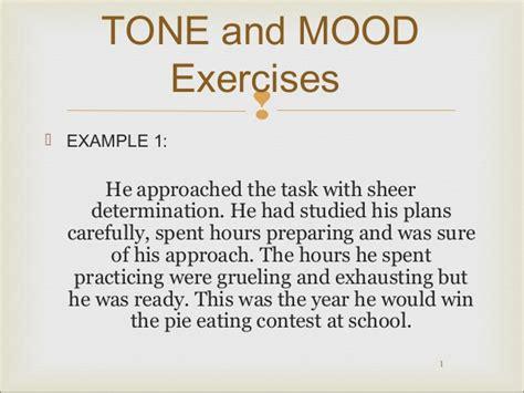 exle of mood mood and tone practice