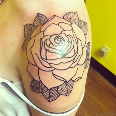 simple rose tattoo 57 pleasant black designs