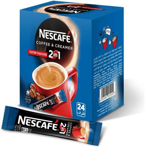 Nescafe 2in1 Instant Coffee & Creamer Mix Sachet, 24