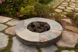 Firepit In Backyard Ideas For A Slope Backyard Landscaping Pit