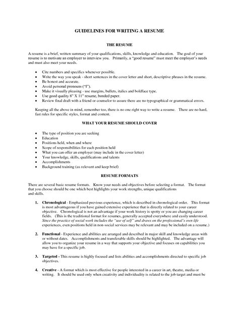 resume types of skills ideas different formats for