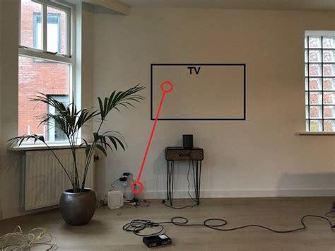 Tv Ophangen Kabels Wegwerken by Tv Ophangen Op Muur En Kabels Achter Voorzetwand Wegwerken