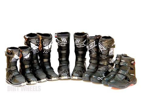 shorty motocross boots boot buyer s guide 150 dirt wheels magazine