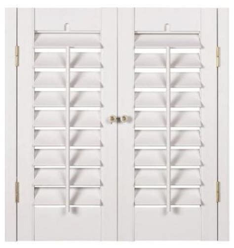 interior plantation shutters home depot homebasics plantation faux wood white interior shutter