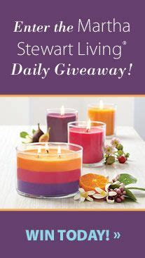 Martha Stewart Living Giveaway - partylite 174 candles clearance while supplies last on pinterest 123