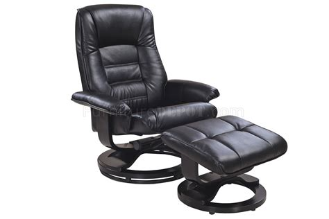 black leather chair with ottoman savuage black bonded leather modern recliner chair w ottoman