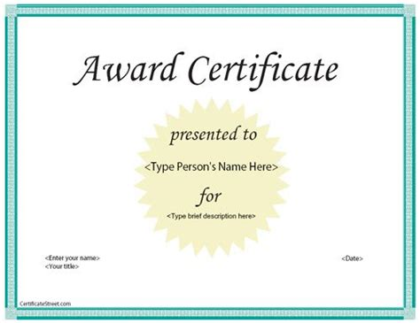 free templates for awards business pin by certificate street on business certificates