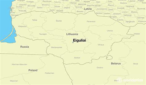 lithuania location on world map where is eiguliai lithuania where is eiguliai