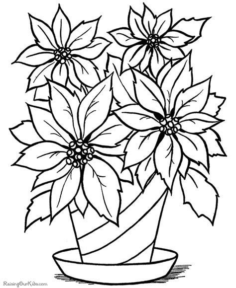 Flower Coloring Pages Printable by Flower Printable Coloring Pages
