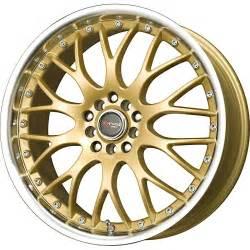 Gold Rims 1 New 17x7 5 45 Offset 5x100 5x114 3 Drag Dr 19 Gold Wheel
