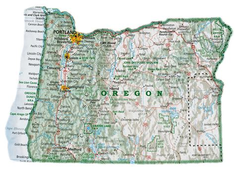 map of oregon cities maps oregon map with cities