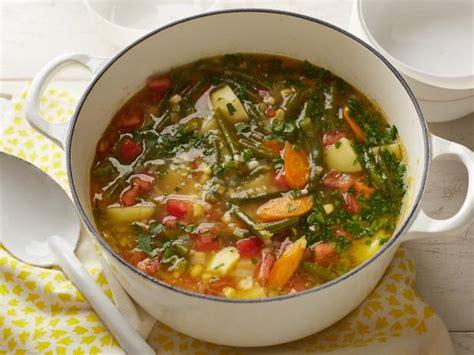 garden vegetable soup recipe alton brown food network