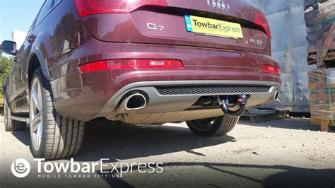 audi q7 detachable swan neck towbar q7 4l