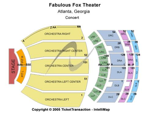 fabulous fox seating fabulous fox theatre seating chart check here view