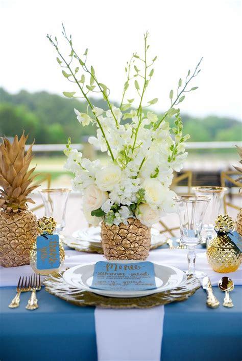 vase centerpiece ideas wedding best 25 pineapple centerpiece ideas on