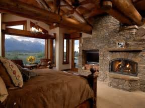 log cabin bedrooms log cabin master bedroom fireplace so relaxing dream