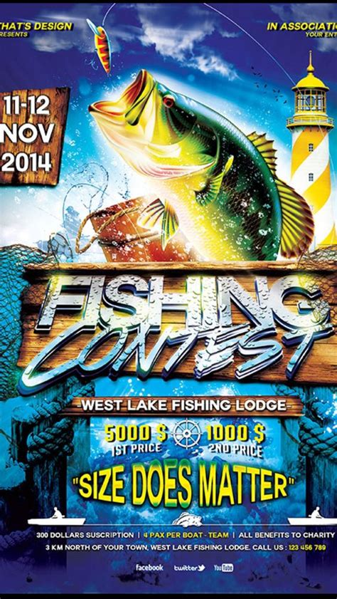 fishing tournament flyer template fishing tournament poster fishing tournament